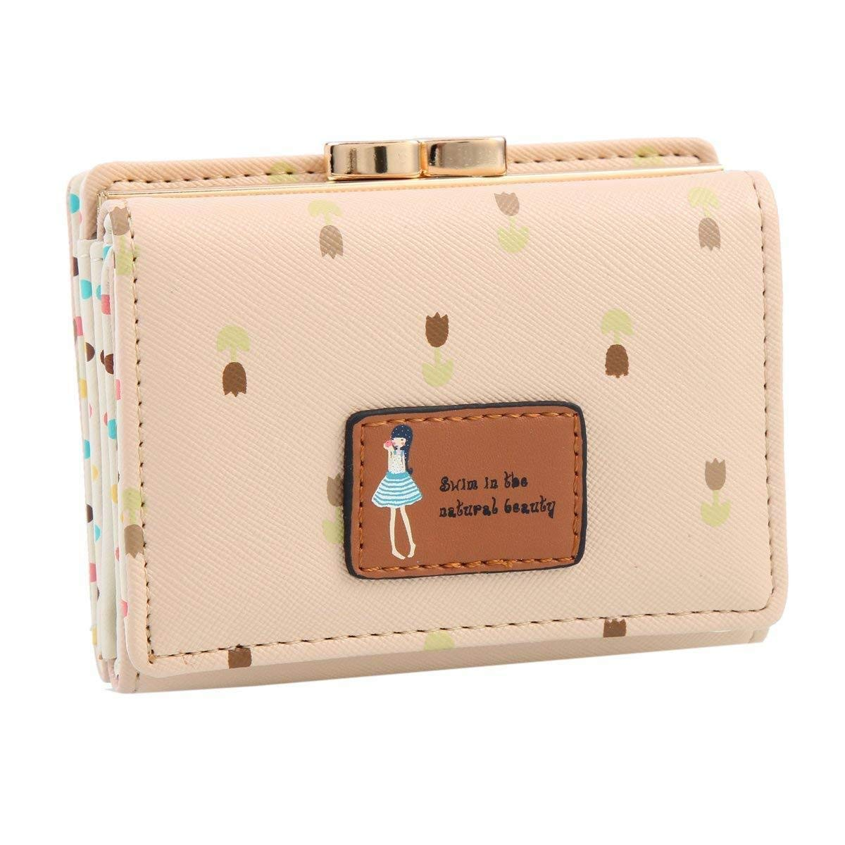 moca s cute (lil tulip s) portable short handy womens wallet small clutch  wallet hand purse ... dea59219ecf27