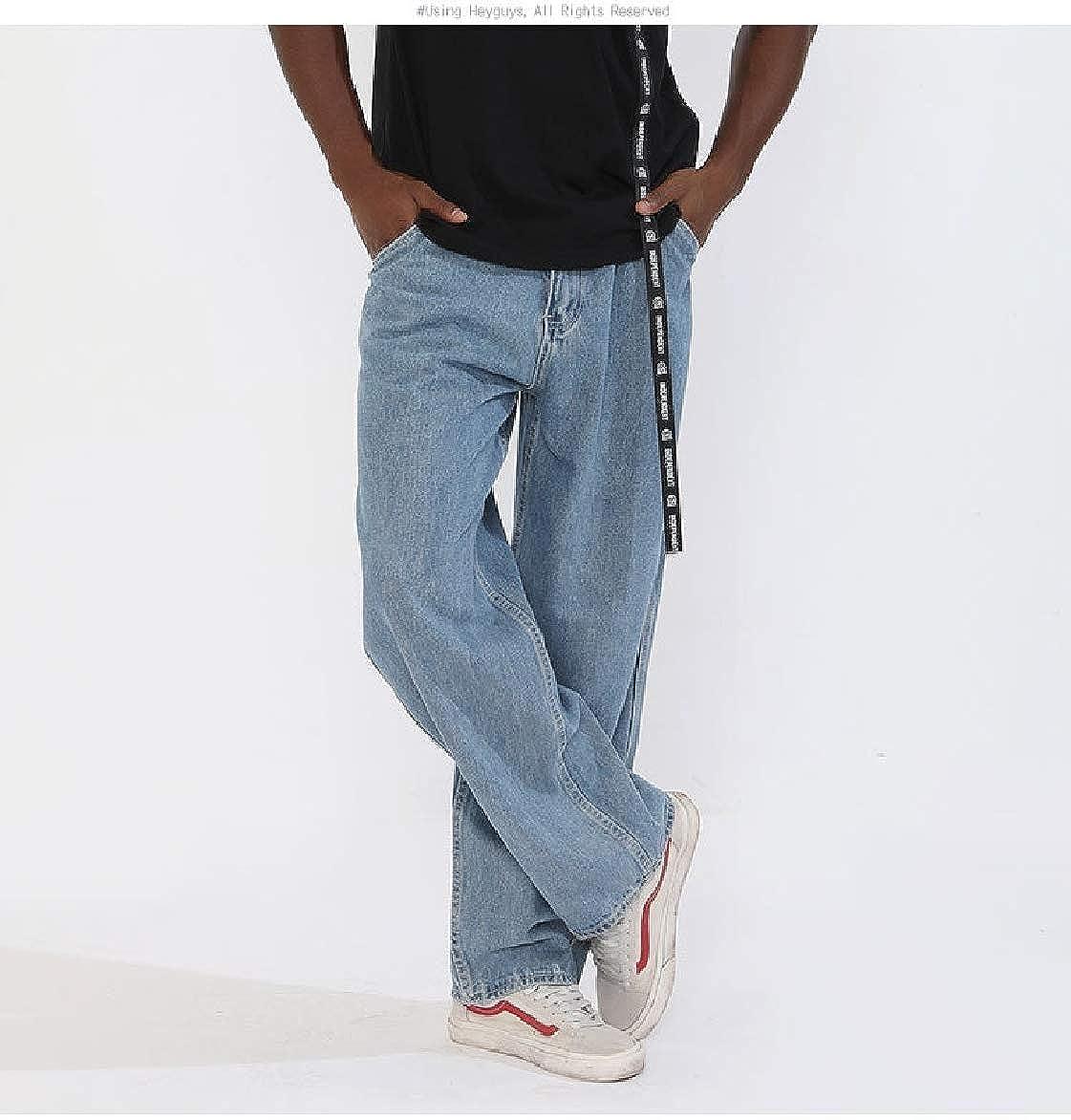 Winwinus Mens Hip Hop Washed Plus Size Straight Juniors Shorts Jeans