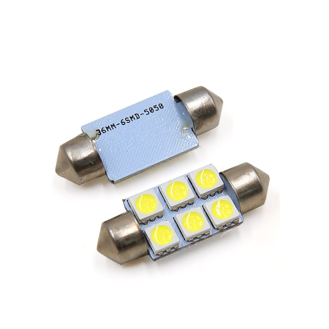 Amazon.com: eDealMax 20pcs 36mm 6 LED 5050 SMD de bóveda del Adorno coche de la luz Blanca Interior DC 12V: Automotive