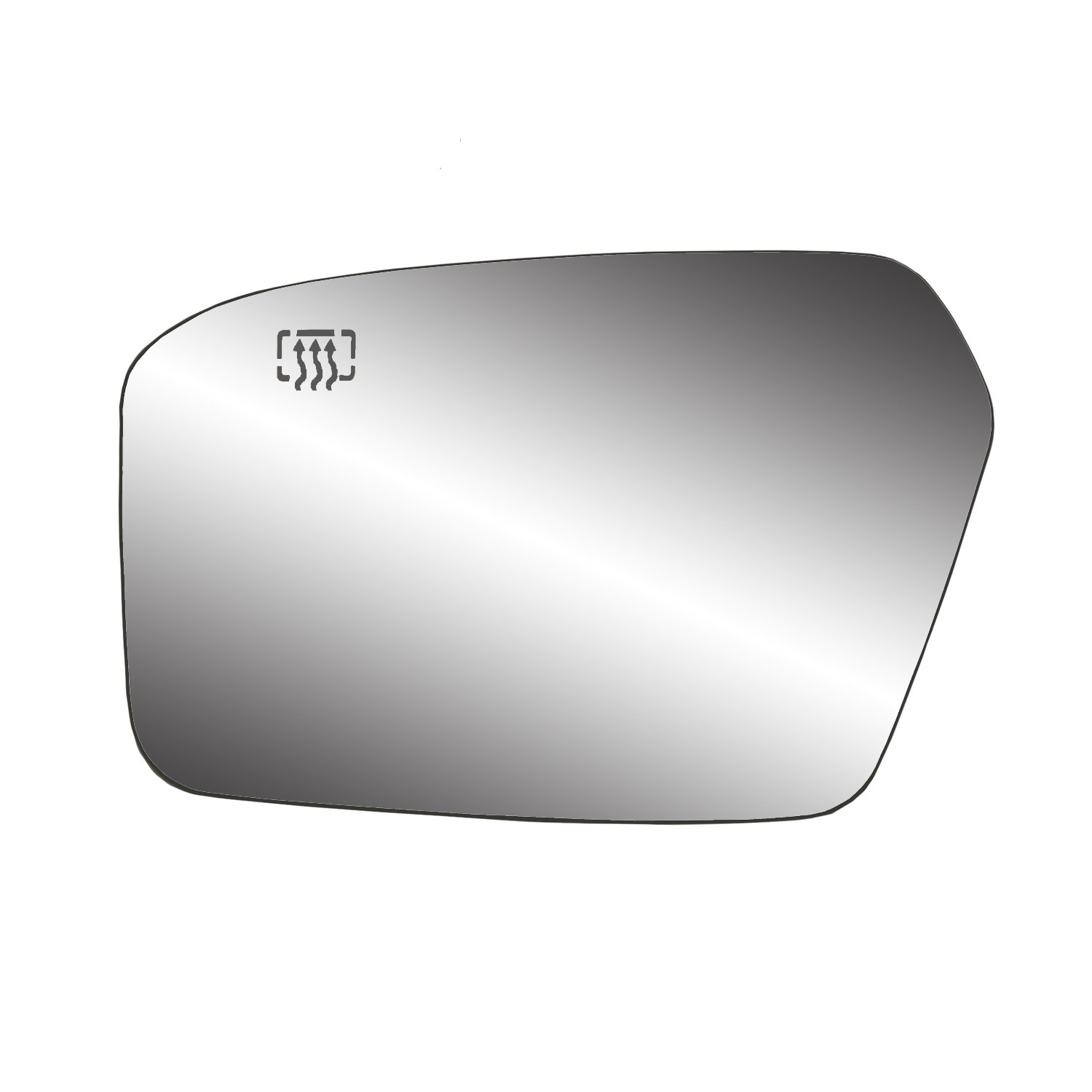 Fit System 30207 Ford Right Side Heated Power Replacement Mirror Glass with Backing Plate