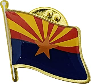 product image for Set of 3 Arizona Single Waving State Flag Lapel Pin - Made in The USA
