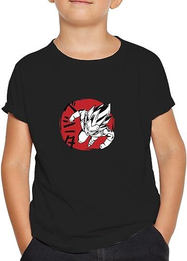 OKAPY Camiseta Vegeta. Una Camiseta de Niño con Vegeta de Dragon Ball. Camiseta Friki de Color Negra: Amazon.es: Ropa y accesorios