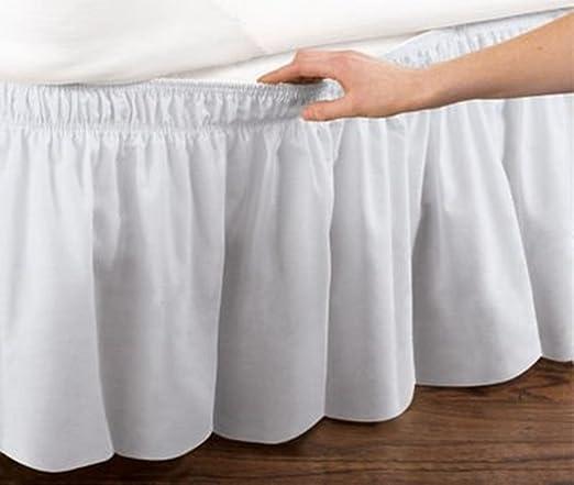 Cama falda con volantes cama elástica envuelve estilo volantes 18 ...