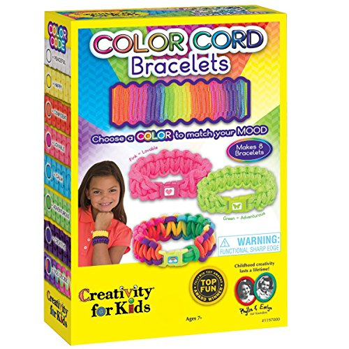 Creativity for Kids Color Cord Bracelets - Makes 8 Paracord Bracelets (Best Color For Creativity)