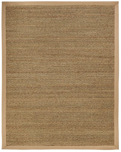 [Anji Mountain AMB0119-0058 Sabertooth Seagrass Area Rug, Natural, 5 x 8-Feet] (Rectangular Bamboo Area Rugs)
