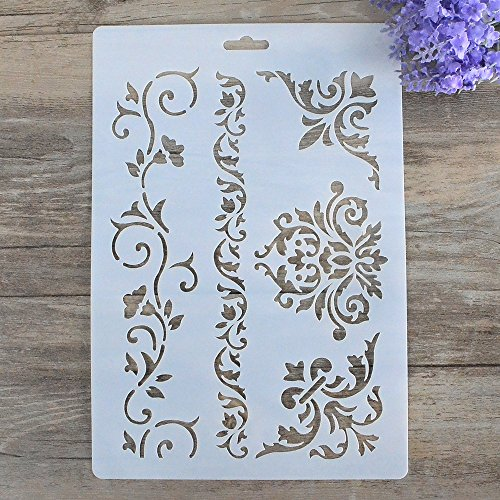 DIY Decorative Stencil Template for Painting on Walls Furniture Crafts by SLGIFT