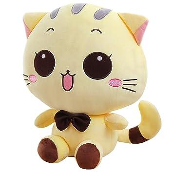 Peluche de peluche suave animales de peluche de juguete muñeca Beige de gato/gato 12