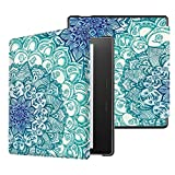 Fintie Slim Case for Kindle Oasis (9th Generation, 2017 Release ONLY) - Premium Slim Shell Protective Cover with Auto Wake / Sleep for Amazon All-New 7'' Kindle Oasis E-reader, Emerald Illusions
