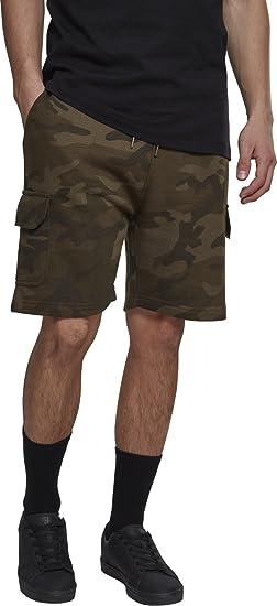 TALLA M. Urban Classics Camo Cargo Terry Shorts Pantalones Cortos para Hombre