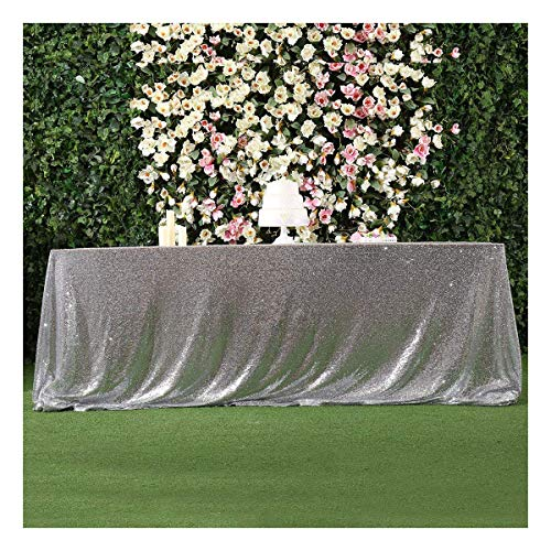 Poise3EHome 60x120 Rectangle Sequin Tablecloth for Wedding Party