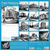 2018 Train Stations Then and Now Wall Calendar