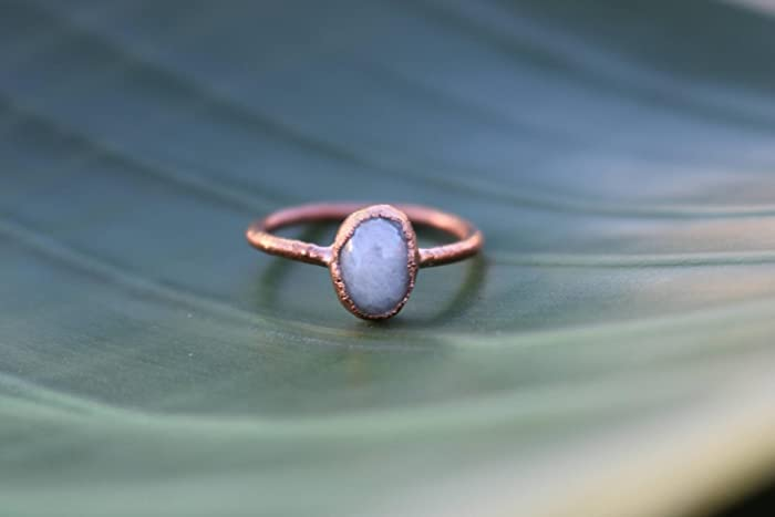 b80736fb3 Amazon.com: Moonstone Ring | Raw Gem Ring | Moonstone Birthstone ...