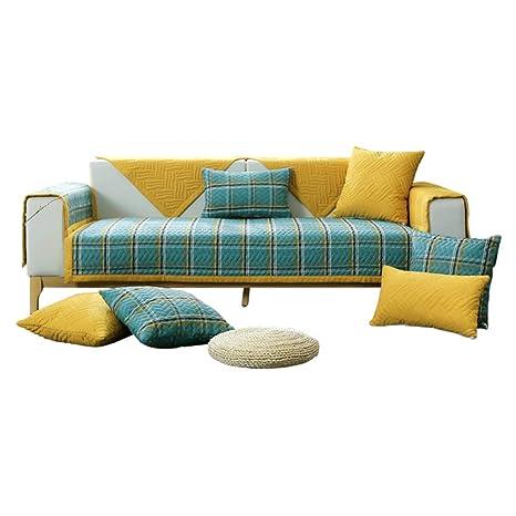 Amazon.com: YHviking Cotton Sofa Cover,Patchwork Quilting ...