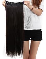 "S-noilite® 26"" (66 cm) extensiones de cabello Una pieza 3/4 cabeza completa recto ombre pedazo de cabello - marron oscuro"