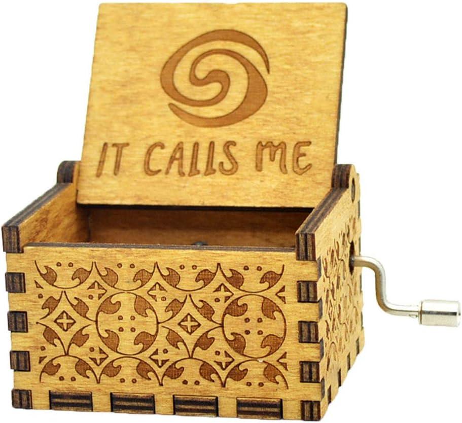 idea regalo per bambini Carillon in legno con manovella e incisione di Star Wars Y/&S Beauty and the beast Legno