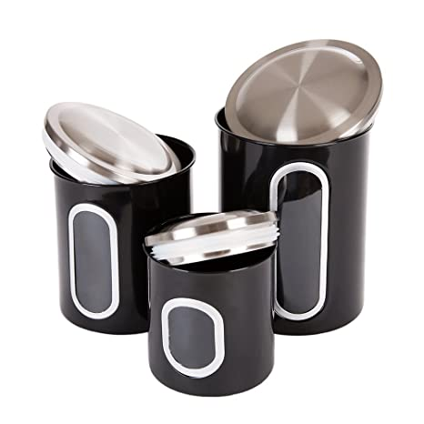 Thrich Airtight Multi Purpose Kitchen Canisters With Fingerprint Resistance Stainless  Steel Lid, Clear Visual