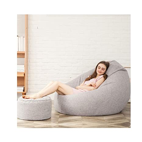 Strange Amazon Com Rkrgq Zipper Beanbag Chair Bean Bag Cover Sofa Ibusinesslaw Wood Chair Design Ideas Ibusinesslaworg