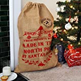 Nicola Spring Christmas Stocking, Hessian Gift Sack - These Presents Were Made In The North Pole
