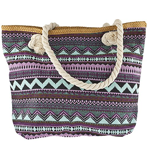Accessories Zag Lux Accessories Women's Bag Print Lux Zig Tote Beach fwqgExHqXF