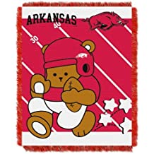 "Northwest NCAA Arkansas Razorbacks Fullback Woven Jacquard Baby 36x46"" Throw Blanket"