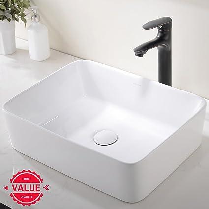 Charmant Modern Porcelain Above Counter White Ceramic Bathroom Vessel Sink
