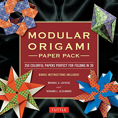 Modular Origami Paper Pack: Tuttle Origami Paper: 350 Colorful Papers for Folding in 3D