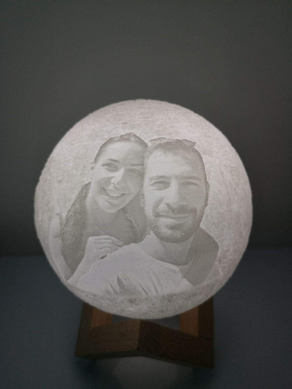 Lmpara de luna personalizada con imagen grabada 4INCH/10CM ...