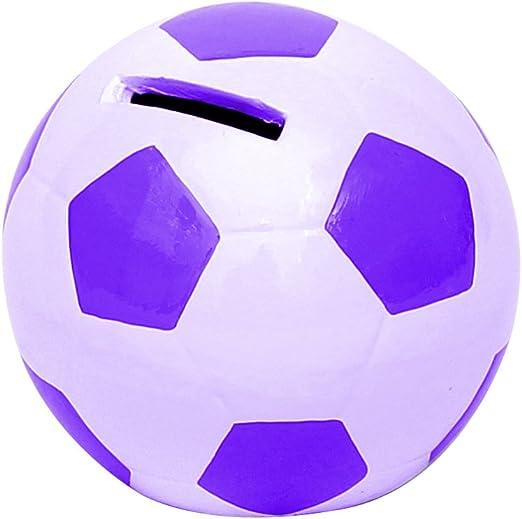 Alcancia en forma de balón de fútbol tamaño 10 x 10 x 10cm: Amazon ...