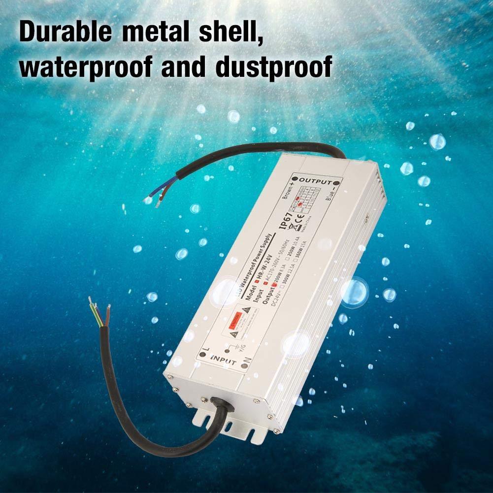 Transformador impermeable del conductor de la prenda impermeable LED de la fuente de alimentaci/ón de la tira de la luz de 12V 12V 16.7A HRW-12V200W 24V 200W LED IP67