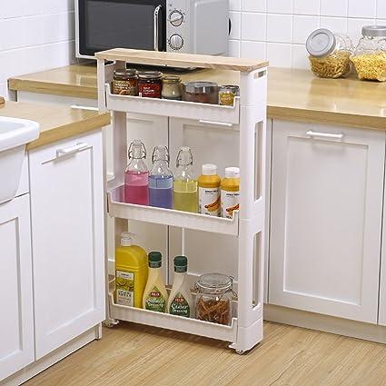 CFstc Carrelli per immagazzinaggio per cucina Slide Out Storage ...