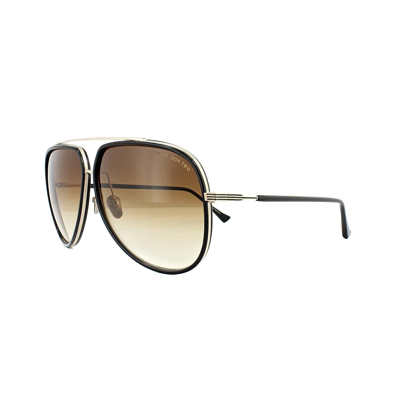 85843210c43e Dita CONDOR TWO 21010 E-BLK-GLD Black-12K Gold w  Dark Brown to Clear  Sunglasses at Amazon Men s Clothing store