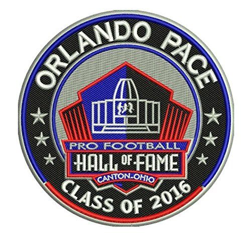PRO FOOTBALL HALL OF FAME PATCH RAMS ORLANDO PACE INDUCTION 2016 PRO FOOTBALL HALL OF FAME INDUCTION PATCH by Football