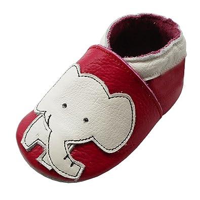 940beef6799de YIHAKIDS Chaussure en Cuir Souple Chaussons pour Enfant Bébé Garçon Fille  Premiers Pas Chaussons Semelle Douce