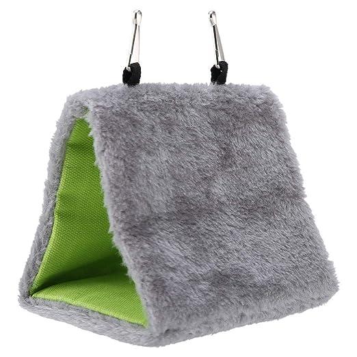 Amazon.com: Ocamo Pet Warm Gray Trigonal Hanging Hammock for ...