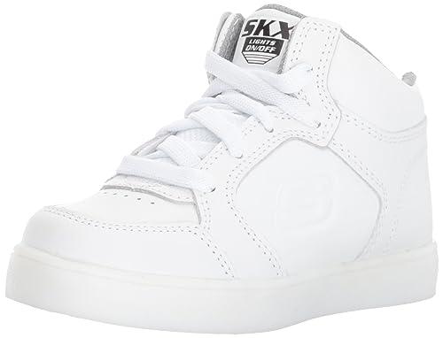 scarpe skechers bambino bianche