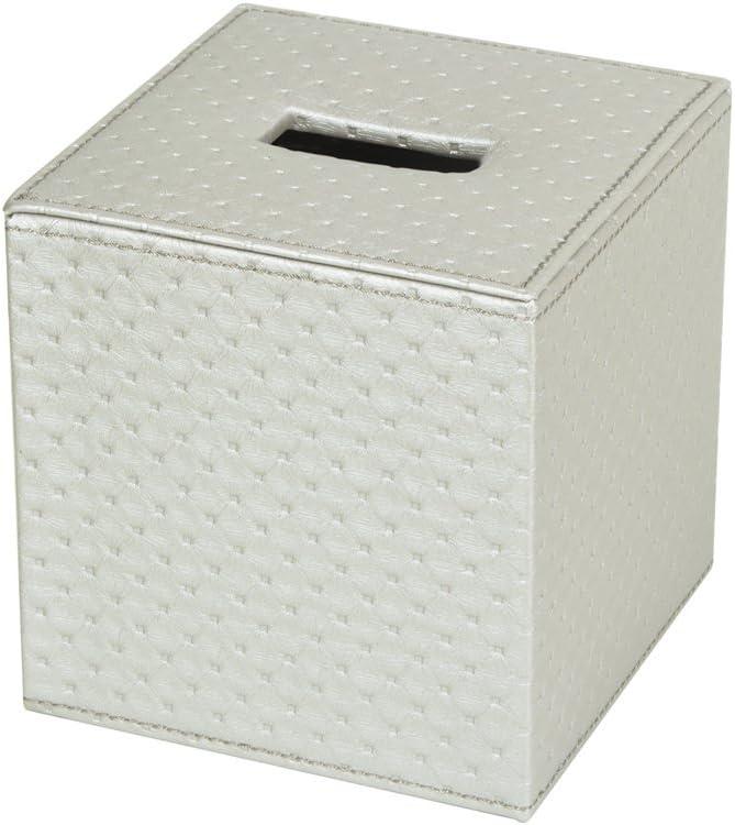 Brown, 13.7 x 13.7 x 14.2 cm - MK272A JackCubeDesign Square Tissue Box Cover Holder Case Cover Holder Box Napkin Holder Organiser Stand