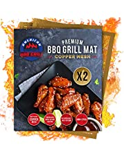 American BBQ Grill Premium Copper Mesh Mat - Set of 2 Heavy Duty Barbecue Grilling Mats - Non-stick and Reusable - Baking Mats Professional Chef Grade - Suitable for All Grill Types - 10 Year Warranty