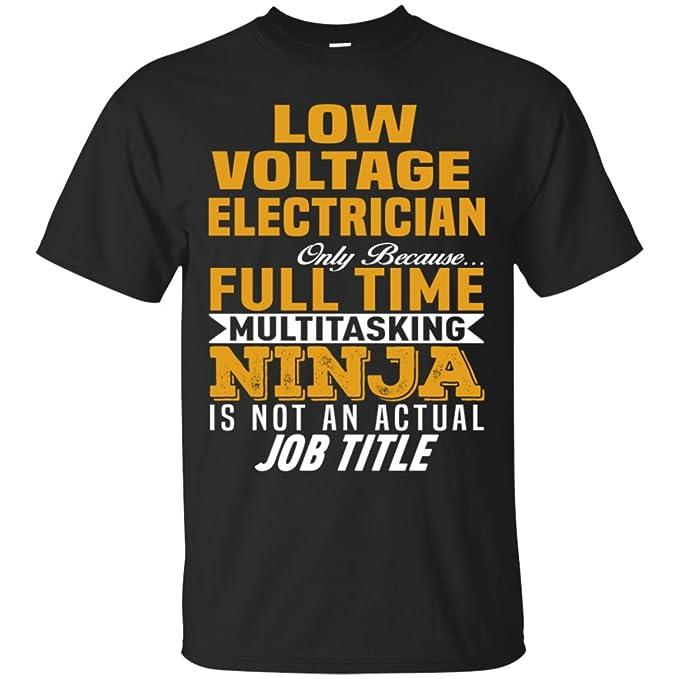 Amazon.com: ElectricianTee Low Voltage Electrician Ninja ...