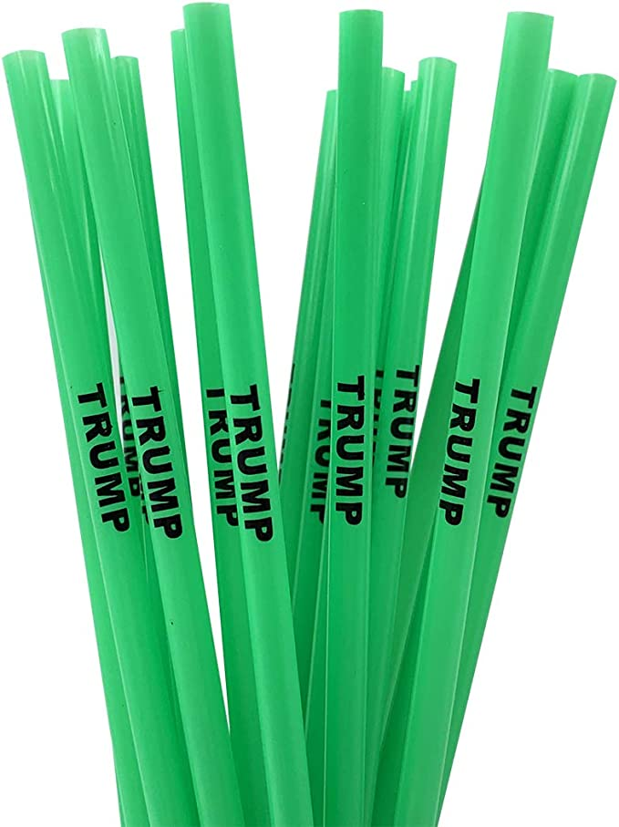 10 Pack President Donald Trump 2020 Limited Edition Straws