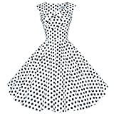 Maggie Tang 50s 60s Vintage Retro Swing Rockabilly Party Dress White Black XL