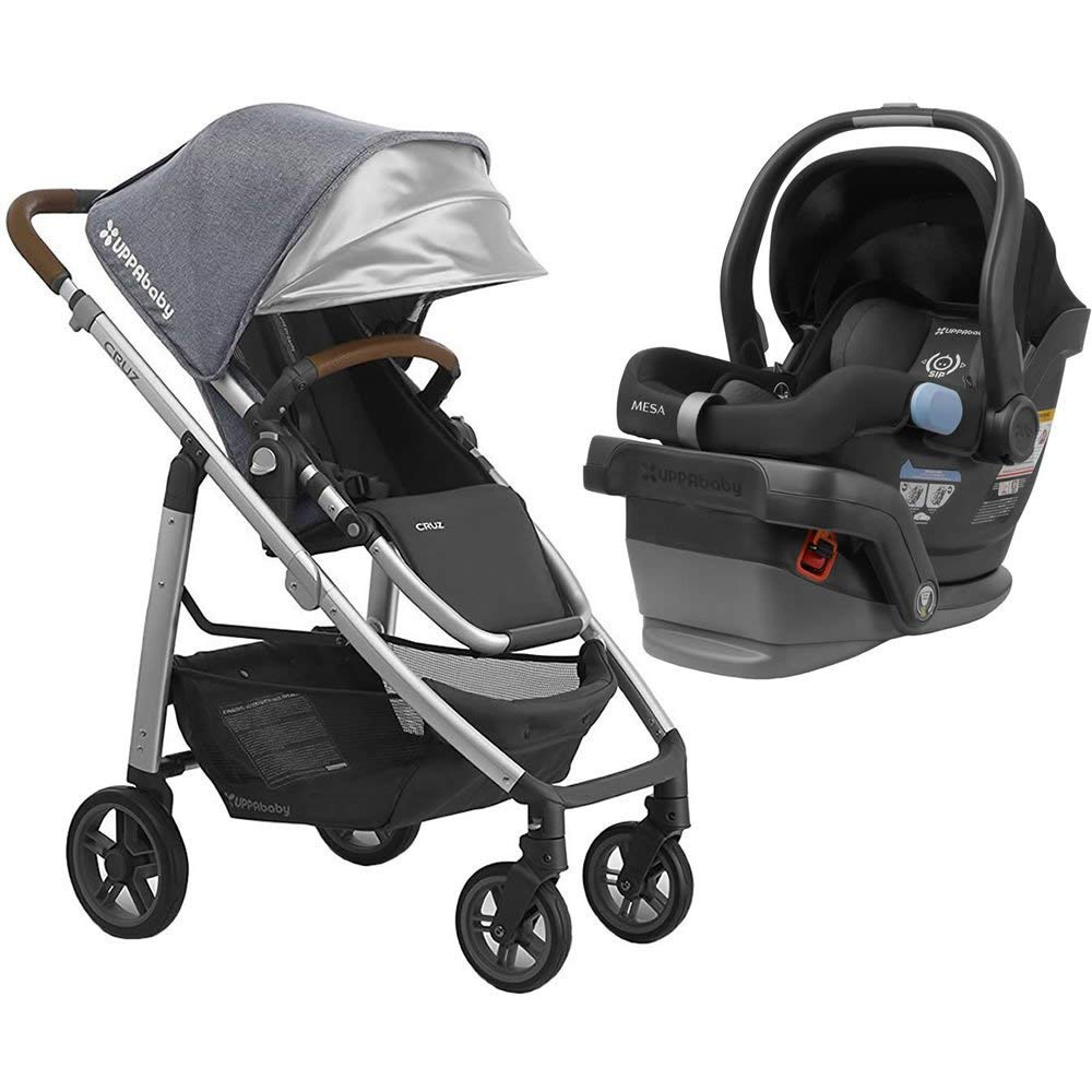 UPPAbaby Full-Size Cruz Infant Baby Stroller & MESA Car Seat Bundle, Gregory/Jake by UPPAbaby