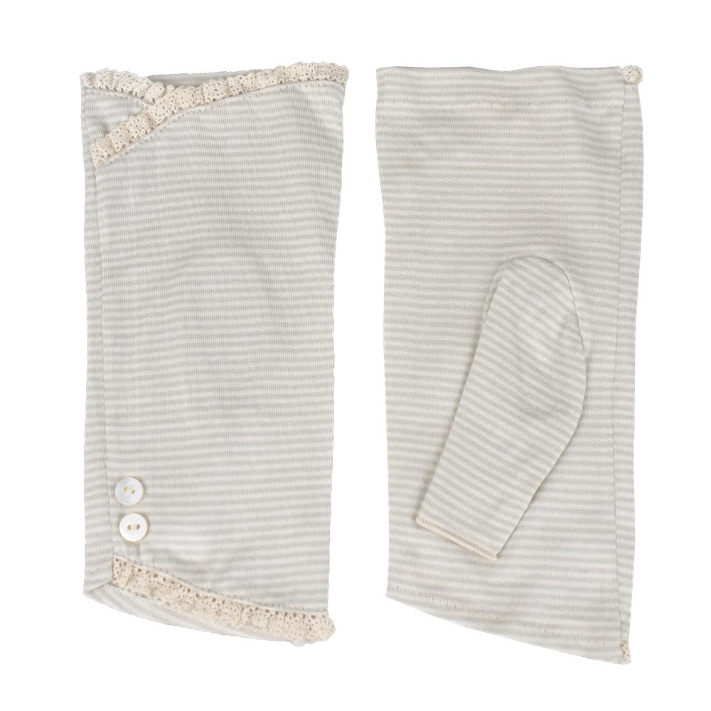 Kenmont Summer Sunblock UV Protection Cotton Lace Fingerless Gloves for Driving/Fishing/Cycling/Golf (Light Grey)