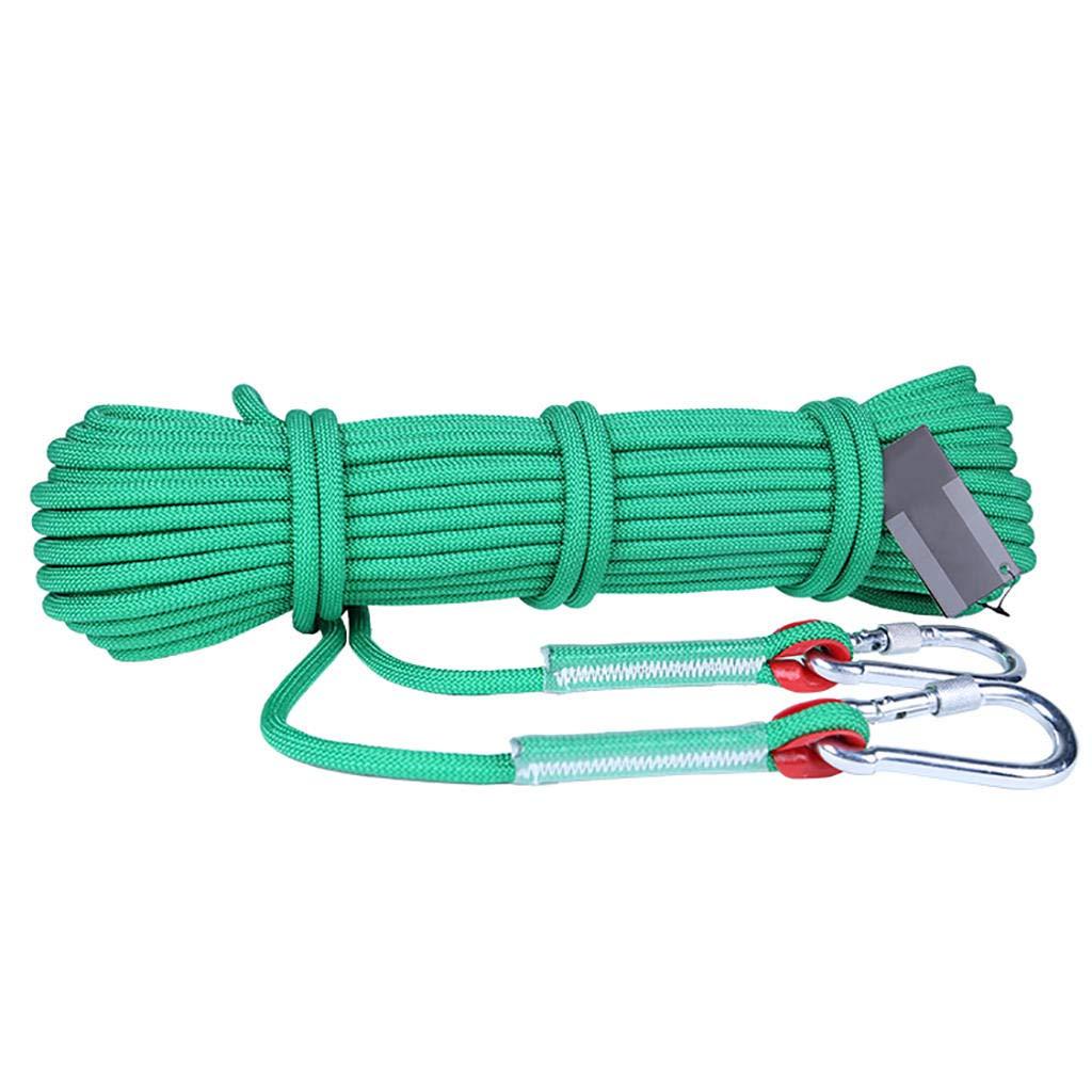 Vert MODKOY Corde d'escalade, 6mm, 8mm, 9.5mm, 12mm Diamètre Randonnée Extérieure Corde de sécurité Haute résistance Corde 10m-100m 9.5mm - 20m