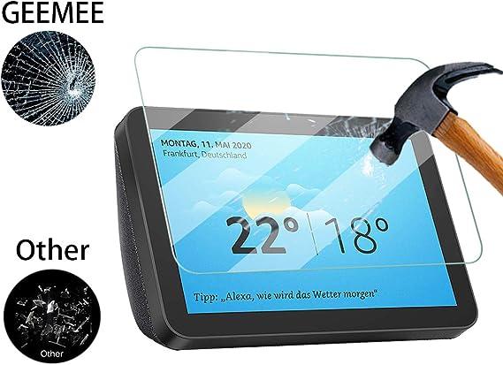Transparente Rayures Glass Screen Protector pour Echo Show 8 Anti GEEMEE pour Echo Show 8 Verre tremp/é Ultra Clair 9H Crystal Clear Film Protection Ecran en Verre Tremp/é