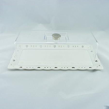 Cake Plate Rectangular Cake Plate Platter Cover  sc 1 st  Amazon UK & Cake Plate Rectangular Cake Plate Platter Cover: Amazon.co.uk ...