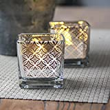 Glass Candle Holder - Handmade Mosaic Tea Light - Home Decor Christmas Wedding Party Gift (D)
