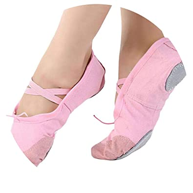 Adult Canvas et Dance Shoes Woman Slippers Pointe Slippers Women Size 36~40,Pink