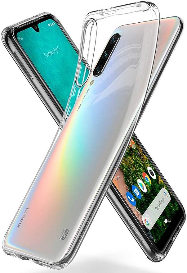 Spigen, Funda Compatible con Xiaomi Mi A3 [Liquid Crystal] Protección Delgada de Gel Silicona y claridad Premium de TPU [Compatible con Carga Inalámbrica] - [Trasparente] S51CS26398: Amazon.es: Electrónica