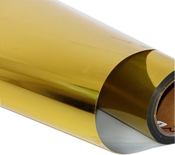 HOHO - Adhesivo de vinilo con efecto metálico para transferencia de calor, telas de camiseta, para máquina de cortar plotter 50cmx1000cm dorado: Amazon.es: Hogar