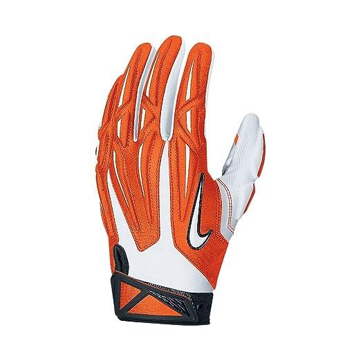 16d5e3ea2c0 Amazon.com   Nike Adult Superbad 2.0 Football Gloves (TEAM  ORANGE WHITE BLACK WHITE
